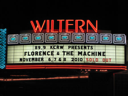 Florence   the Machine – Strangeness and Charm (The Wiltern 11/6/10)